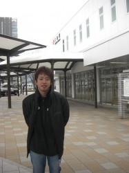 JR三島駅に到着したマッチャン
