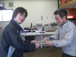 OKAMOTOくん愛車S15で表彰