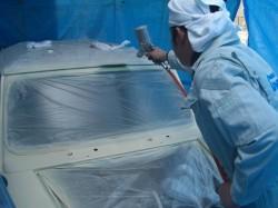 MINI 塗装やタクちゃん気合の手つき