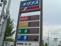 ガソリン価格表示 電光板