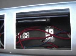 MPV トランク部ボックス加工中 電源