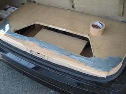 ODYSSEY RB1 トランクルーム、ボード加工中です。