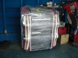 SA580-COMP アライメントテスターが到着、ラリーのピットにて