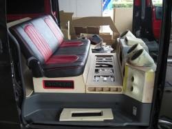HIACE オーディオボード加工 リアシート前方③