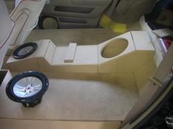 RB1 ODYSSEY トランクオーディオボード加工中