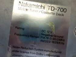 Nakamichi TD700 ダカール