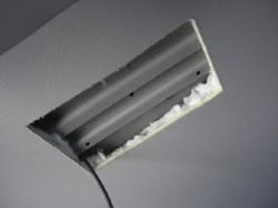 天井カット、配線引き