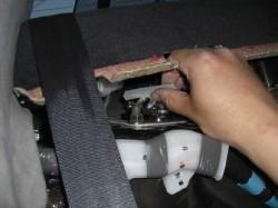 ワッシャー&防水テープを取り付けします。